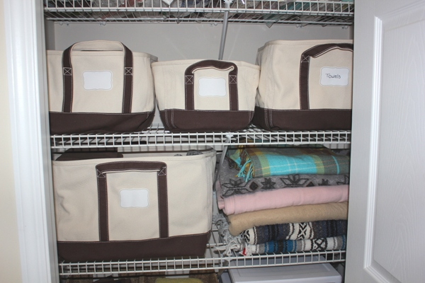 Organizing My Linen Closet Lands End Storage Totes Giveaway