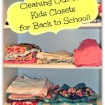 Cleaning Out the Kid's Closets for Back to School