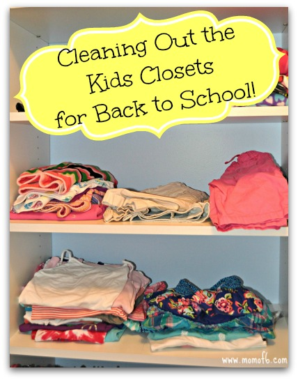Cleaning Out the Kid's Closet for Back to School