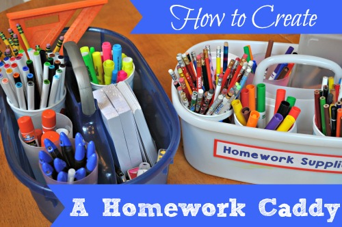 How to Create a Homework Caddy at I'm an Organizing Junkie blog