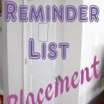 Reminder List Placement