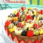 Chocolate Fondue-Inspired Cheesecake