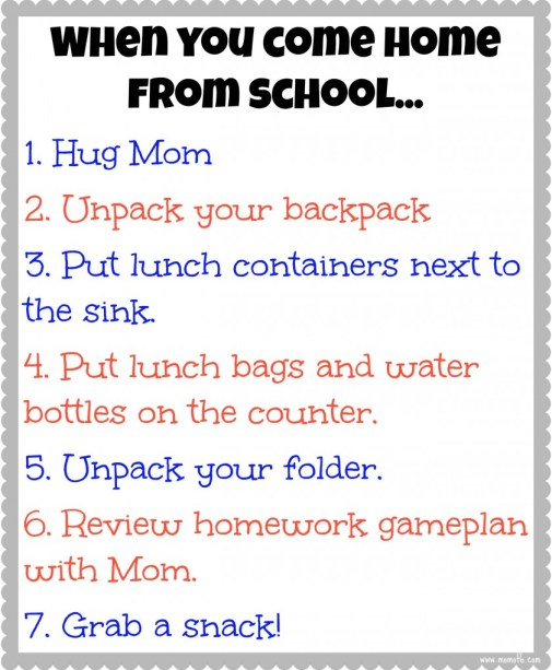 When-You-Come-Home-from-School free printable