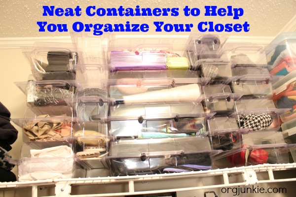 Neat Containers to Help You Organize Your Closet