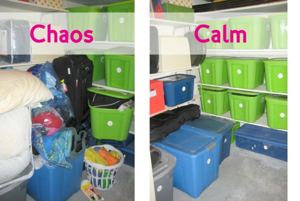 Storage Room Closet Before & After
