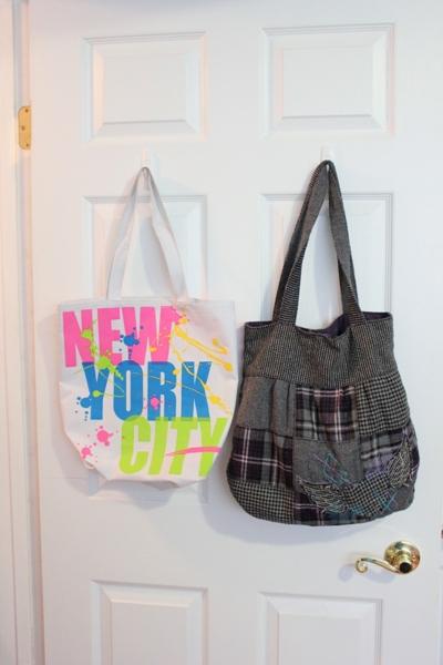 bags on the inside of door