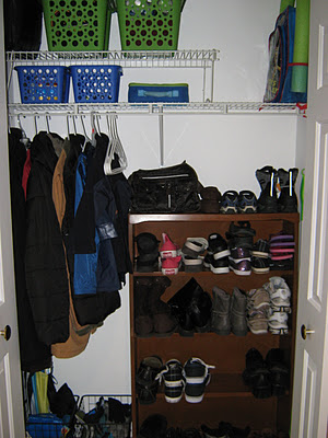 bookshelf in closet