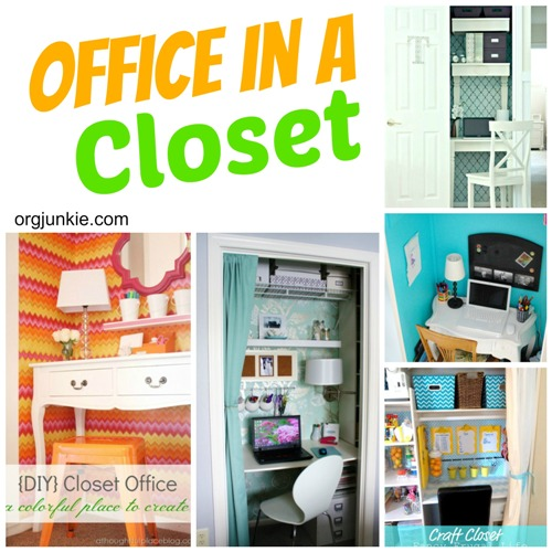 Office in a Closet at I'm an Organizing Junkie