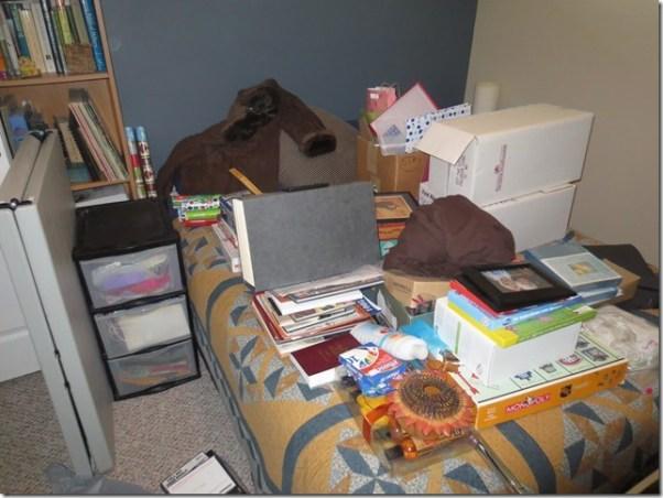 closet organizing during