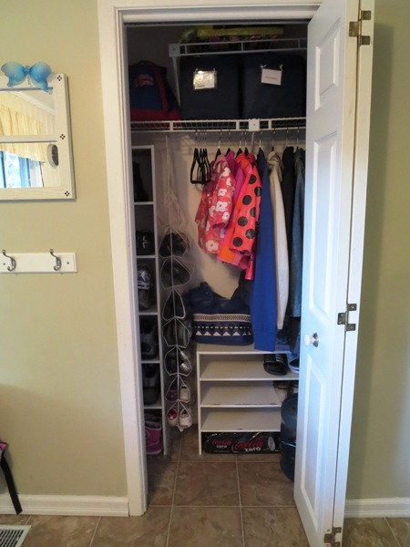 entryway closet after