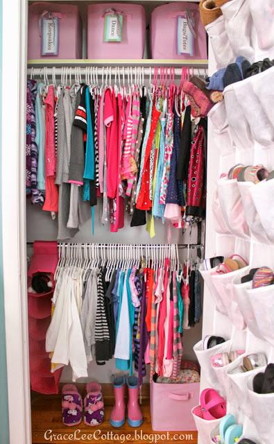 Girlu0027s Closet Makeover