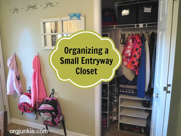 organizing a small entryway closet