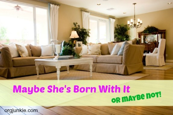 Maybe She's Born With It or Maybe Not - anyone can learn to organize!