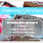 Organizing a Child's Closet – Part 2