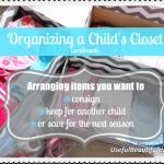 Organizing a Child's Closet – Part 2