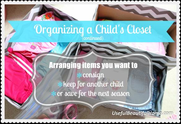Organizing a Child's Closet