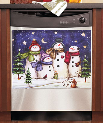 snowman art for dishwasher