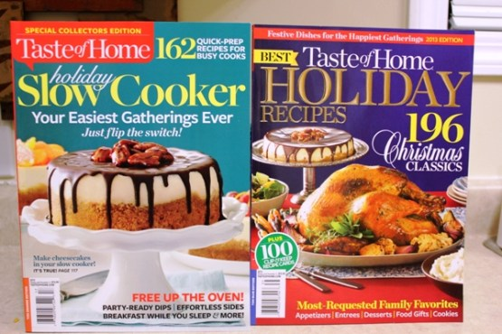 Taste of Home Holiday Cookbooks
