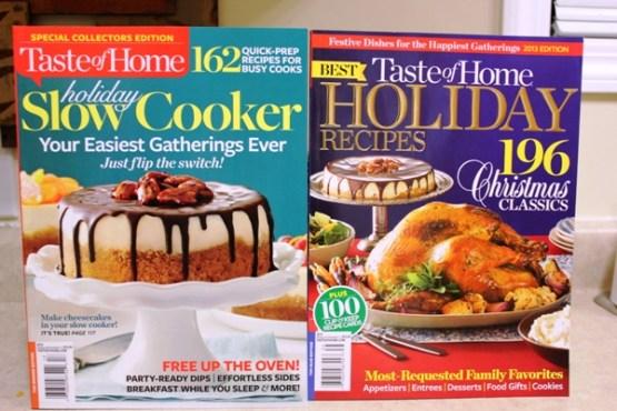 Taste of Home Holiday Cookbooks