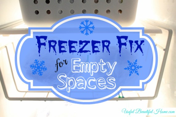 Freezer Fix for Empty Spaces at I'm an Organizing Junkie
