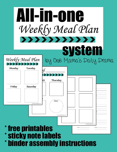All-in-one Weekly Meal Plan System