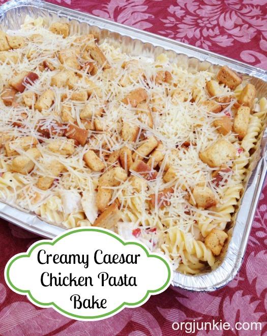 Creamy Caesar Chicken Pasta Bake