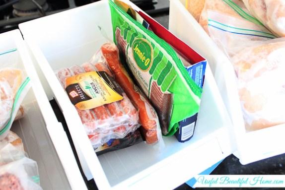 Freezer Organizing