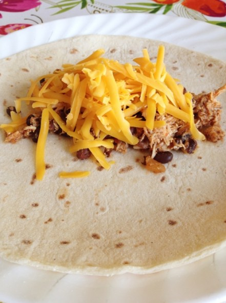 Slow Cooker Chicken & Black Bean Tacos