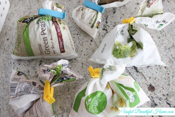 Tidy-up and condense your freezer goods