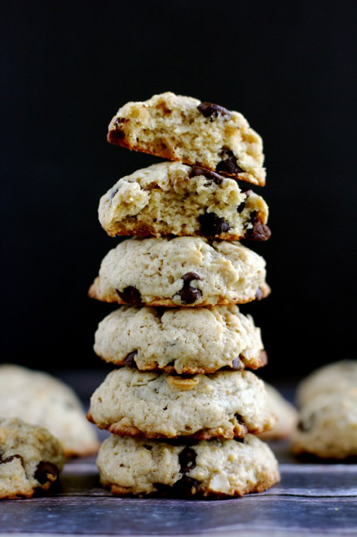peanut butter chocolate chip banana oatmeal cookies 3