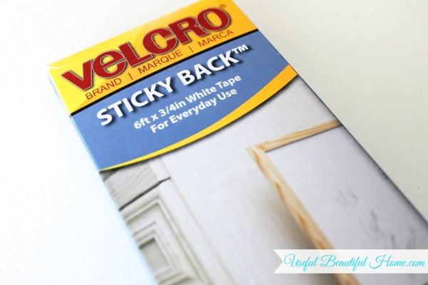 Use Sticky Back VELCRO for toddler bib organization