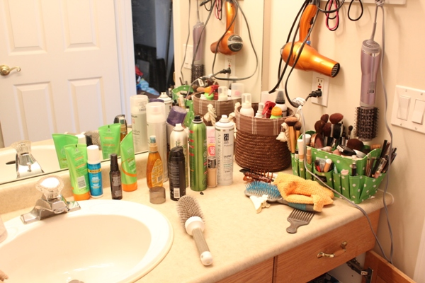 Bathroom Counter Before