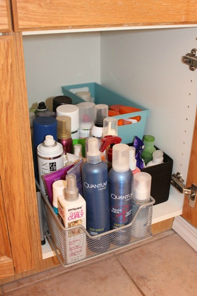 Hair Product Storage