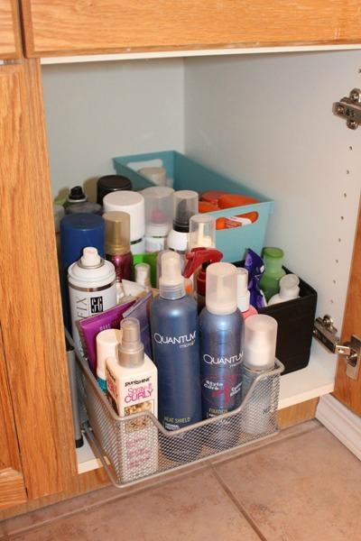 Nice Hair Product Storage