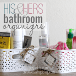 His and Her Bathroom Organizers