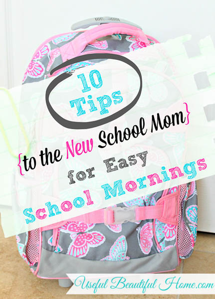 10 Tips for Easy School Mornings at orgjunkie.com