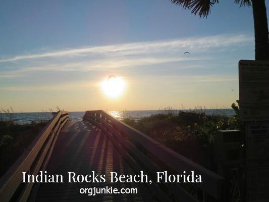 Sunset over bridge at Indian Rocks Beach, Florida