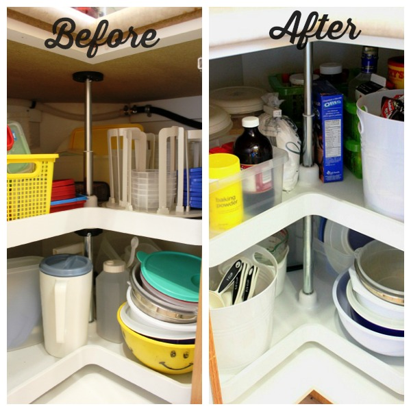 Organized Kitchen Before And After: Organizing Lazy Susans