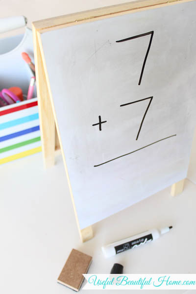 My favorite kitchen table homeschool tool!