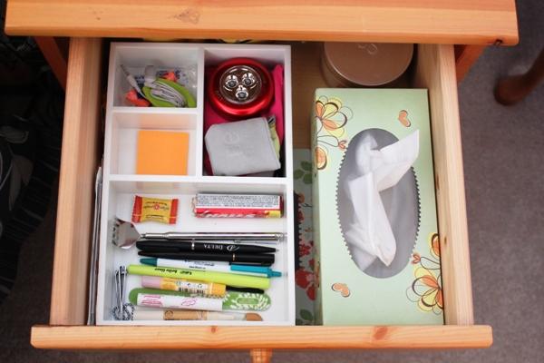 Organizing My Nightstand Drawer