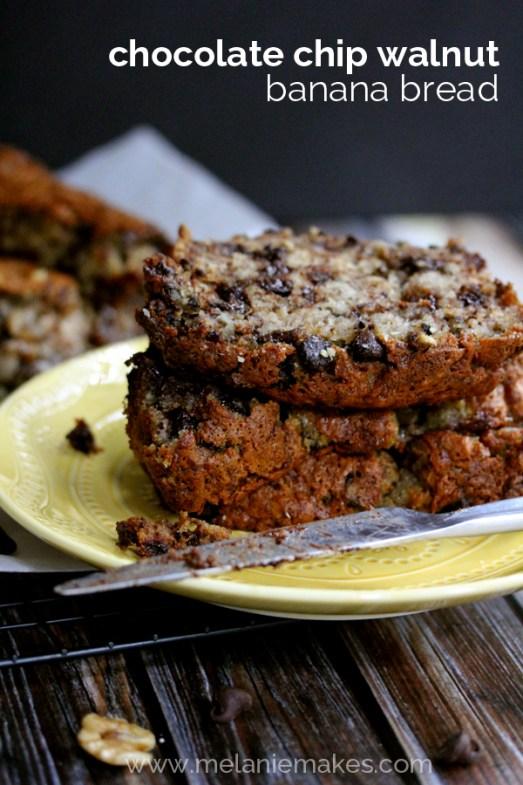 chocolate chip walnut banana bread mm