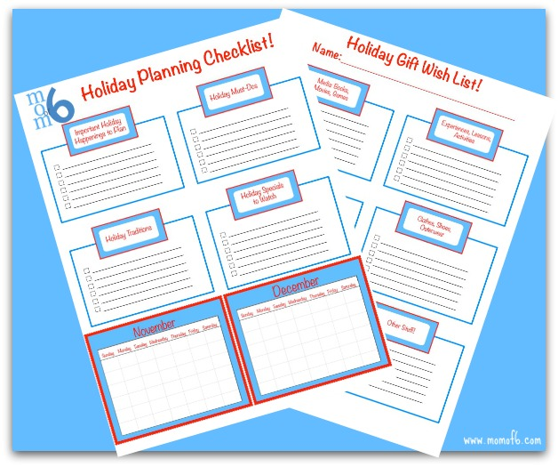 Holiday Planning Checklist and Gift Wish List