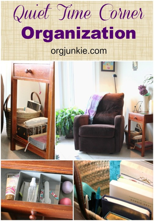Quiet Time Corner Organization