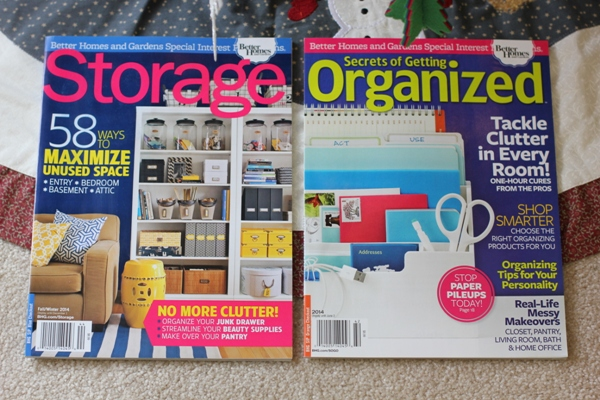 Better Homes & Gardens Organizing Magazines giveaway!