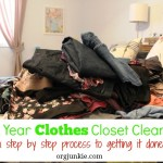 New Year Clothes Closet Clean Out