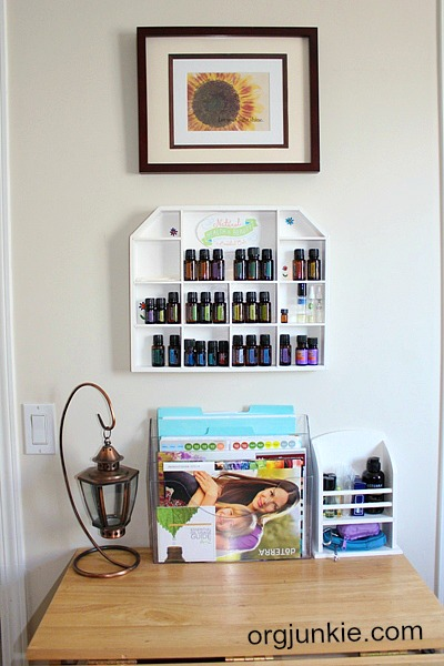 Thrift Store Essential Oils Storage