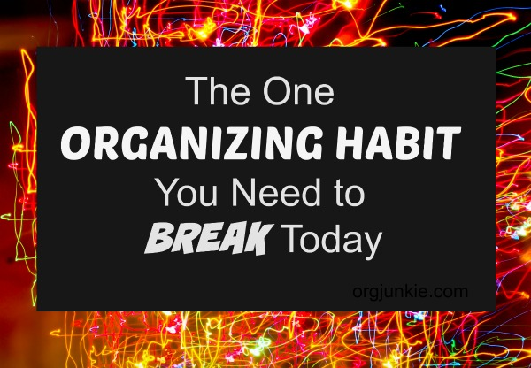 The One Organizing Habit You Need to Break Today at I'm an Organizing Junkie blog