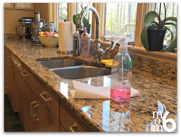 Clean Kitchen Counter