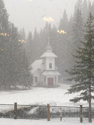 church photo snow