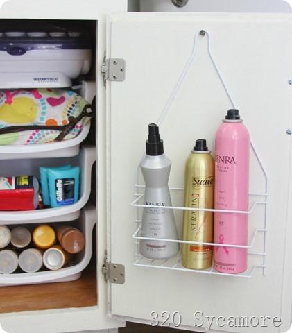 hairspray on dollar store shower caddy_thumb